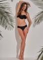 Morhipo Beach Volanlı Bikini Üst Siyah